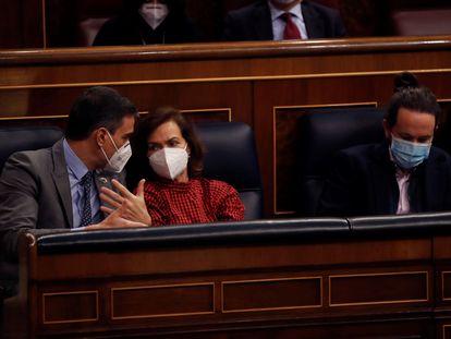 Sesión de control celebrada este miércoles  en el Congreso de los Diputados.