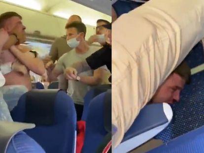 Pelea en pleno vuelo porque un pasajero se negaba a usar mascarilla