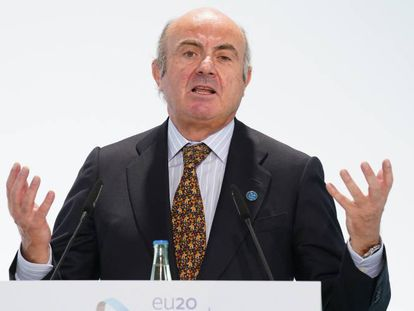 El vicepresidente del BCE, Luis de Guindos, en una imagen del pasado septiembre.