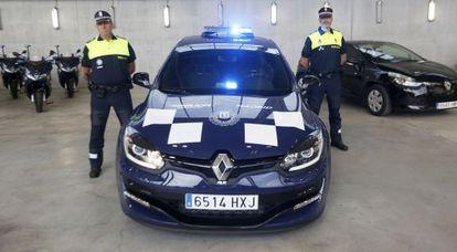 Uno de los coches patrulla que presentó Ana Botella en verano de 2014.