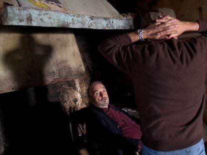 Jean-Claude Carrière y Fernando Trueba, en el rodaje de 'El artista y la modelo'.