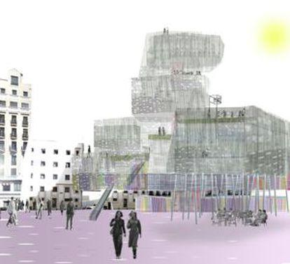 Proyecto de reforma de la plaza de los Mostenses.
