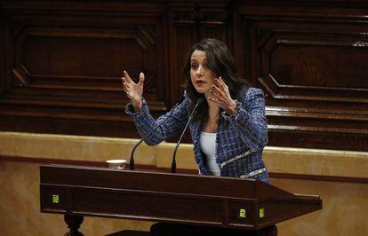 Inés Arrimadas, en el Parlament de Cataluña, en una imagen de archivo.