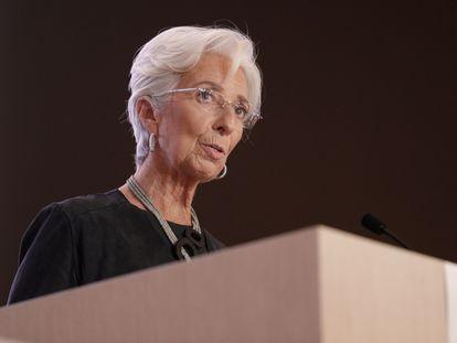 Christine Lagarde, presidenta del BCE, en el Congreso de las Regiones de Saint-Ouen, Francia, el pasado 19 de octubre.