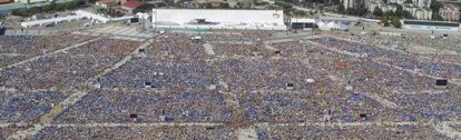 Vista aérea del aeródromo de Cuatro Vientos en la tarde del sábado.