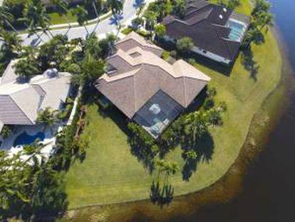 Vista aérea de la casa comprada por Pedro Fort.