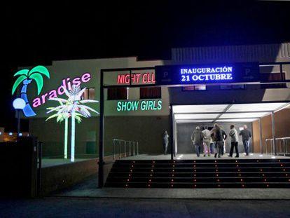 El macroburdel Paradise, el día de su apertura, en octubre de 2010.
