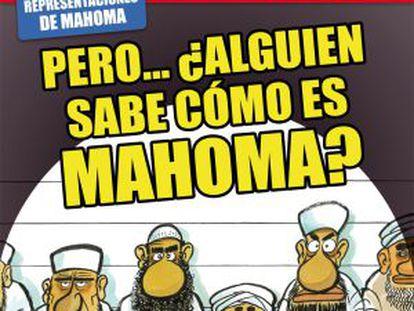 La portada del semanario 'El Jueves' sobre Mahoma.