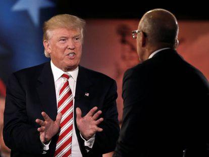 Trump, este miércoles en el foro de NBC