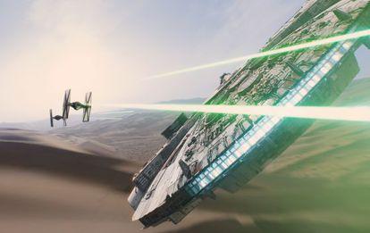 Fotograma de 'Star Wars VII, El despertar de la Fuerza', de J. J. Abrams.