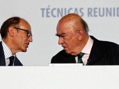 Juan Lladó y, su padre, José Lladó, consejero delegado y presidente de Técnicas Reunidas.