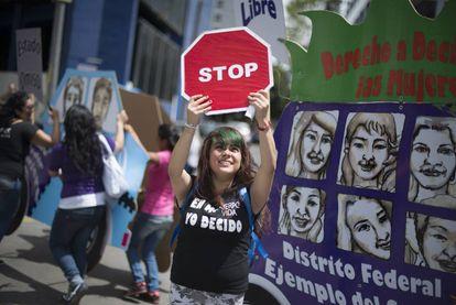 Manifestación por la despenalización del aborto en la capital.