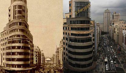 El antes y después del Edificio Carrión.