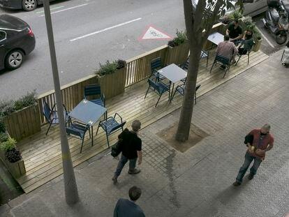 Los precios en las terrazas han variado después de la declaración de pandemia
