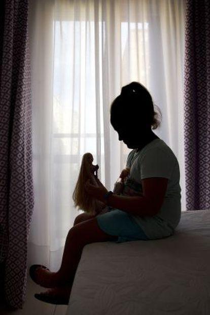 La menor transexual de seis años, en Málaga.