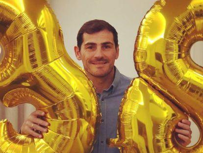 Iker Casillas, en la celebración de su cumpleaños.
