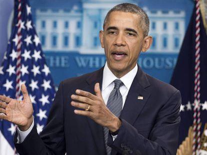 Obama, en su rueda de prensa de este viernes en la Casa Blanca