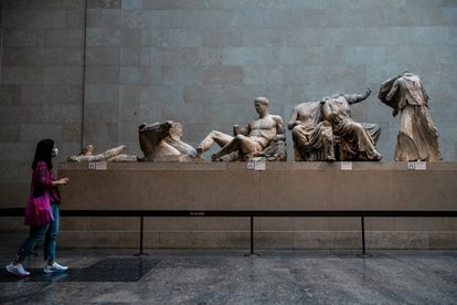 The Parthenon Gallery at the British Museum in August 2020.