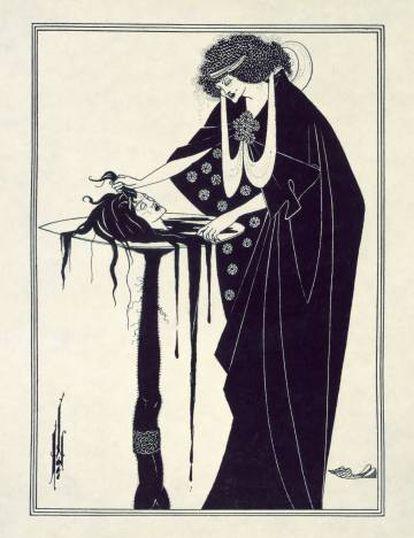 Ilustración para 'Salomé' (1907), de Aubrey Beardsley.