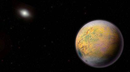 Recreación del Planeta X