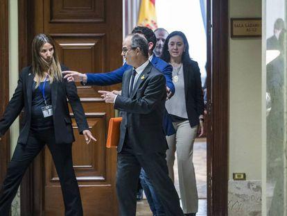 Jordi Turull recogiendo recoge el acta de diputado en el Congreso el pasado 20 de mayo, un día antes de que se constituyera la Cámara.