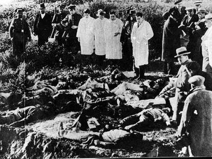 Cadáveres de las víctimas de la matanza de Casas Viejas (actualmente Benalup, Cádiz) el 12 de enero de 1933, durante la II República.