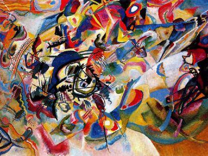 'Composición VII' de Kandinski, una de las obras más complejas del autor, según él mismo confesó.