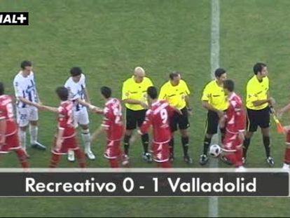 Recreativo 0; Valladolid 1