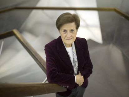 La filósofa valenciana Adela Cortina, en la sede de Caixaforum en Madrid.