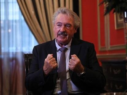 Jean Asselborn, durante la entrevista, el 21 de octubre en Madrid.