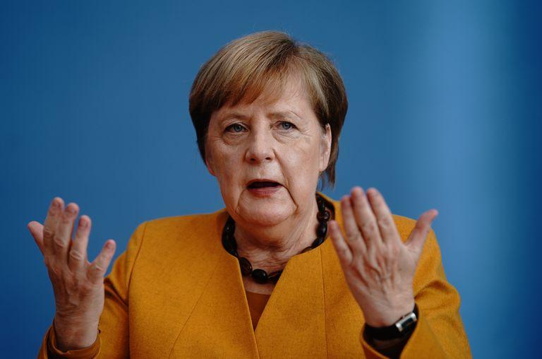 La canciller alemana, Angela Merkel, durante su comparecencia ante la prensa, este lunes en Berlín.