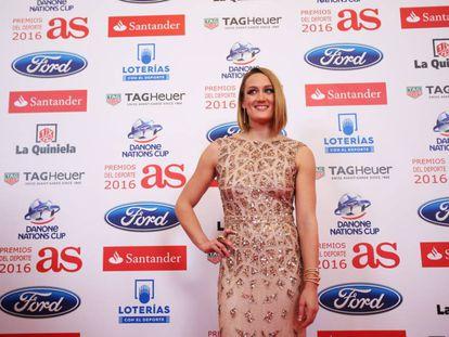 Mireia Belmonte, anoche en la gala de los Premios AS.