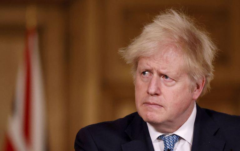 Johnson, durante la conferencia de prensa convocada este lunes en Londres.