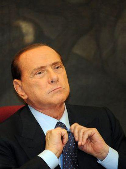 Silvio Berlusconi, el pasado 1 de febrero, en el Parlamento italiano.