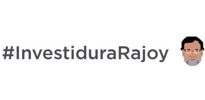 La etiqueta #investiduraRajoy.