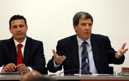 Aurelio Martínez, a la derecha, y Amadeo Salvo.