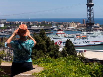 Vista de la terminal de cruceros del puerto de Barcelona.