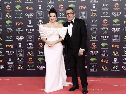 Silvia Abril y Andreu Buenafuente llegando a la gala de los Goya 2020.
