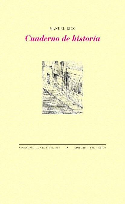 Portada 'Cuaderno de historia', de Manuel Rico.