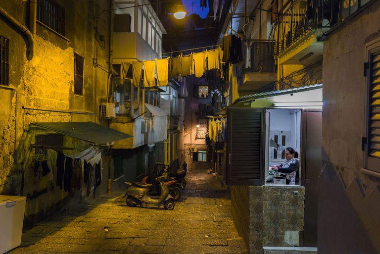 Barrio de Santa Lucia de Nápoles. 13.03.2020