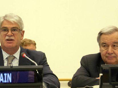 El ministro de Asuntos junto al secretario general de la ONU