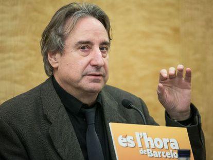 El actor Juanjo Puigcorbé, en un acto preelectoral