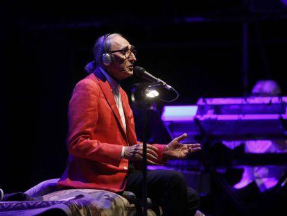 El cantautor y músico italiano Franco Battiato, este martes en las Noches del Botánico.