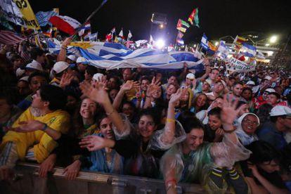 Jovens na JMJ, no Brasil.
