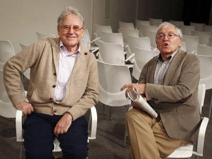 Los historiadores Santos Juliá, a la izquierda, y José Álvarez Junco, en noviembre de 2014.