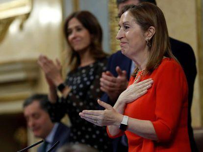 Ana Pastor, en la última sesión como presidenta del Congreso de los Diputados.
