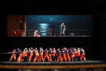 Ensayos de la ópera <i>El holandés errante,</i> que inaugura la temporada en el Teatro Real el próximo martes 12 de enero.