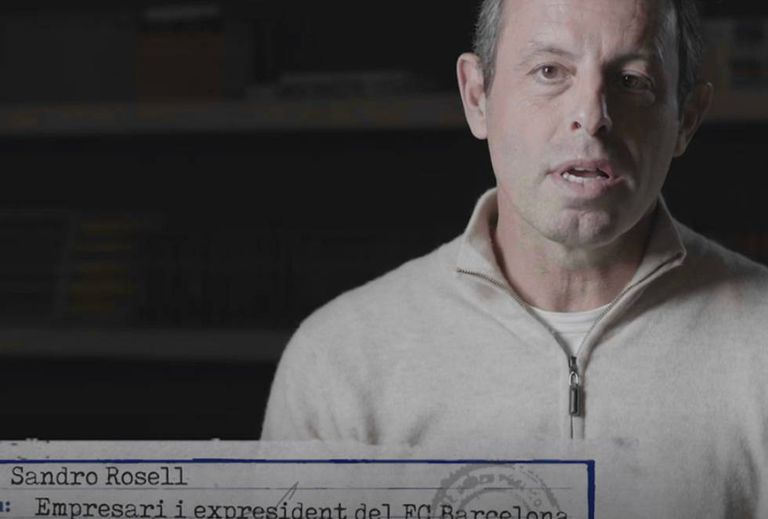 Una imagen de Sandro Rosell del documental de TV3.