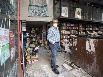 Jesús Otaola, director de Proteo, este martes en la librería.
