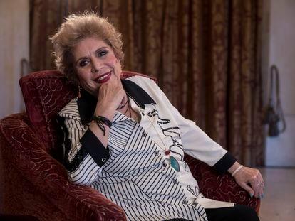 María Jiménez, durante la entrevista.